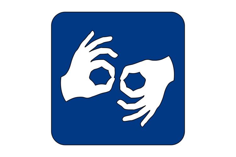 ikona języka migowego